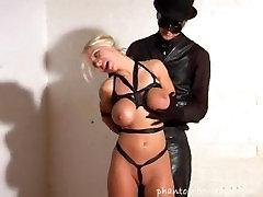 petra black silk bondage