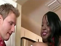 Sexy Black milf blowjob glasses Gets Fucked By Lucky White Guy
