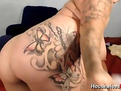 Inked facial cumslut Brittney with huge tits