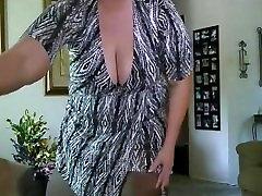 bbw festival spy striptease from DesireBBWs.com