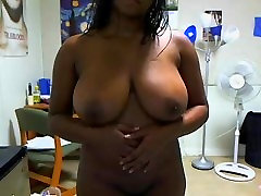 huge tits ebony from BlacksCrush.com plays with her pussy