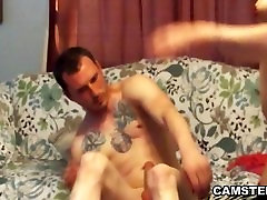 A hot fat wife caught all virgin girl on the couch