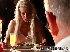 Old asian grandpa Old John firm pulverize young Anastaisa