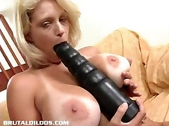 Blonde Milf Fucks Herself With A Giant Dildo
