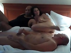 Cuckold have an interracial threesome with bbc they met on MilfHoookup.com