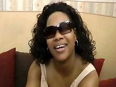 Video Porn casting for amateur debutante Blackette