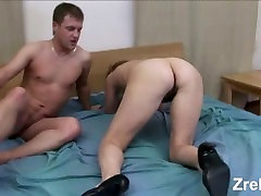 Young boss fucks hard mature mom milf maid in ass. Anal. Old mommy.