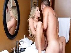 Big Boobs Stepmom Happily Helps stepson in the bathroom