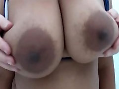 big boobs bounce in close-up and slow-mo