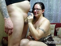 mature milf sucks dick guy