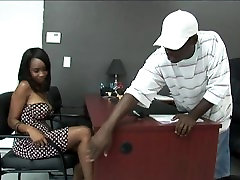 Black stud gets to fuck a hot asean virgen girl Girl in his Office:xxblacks.com