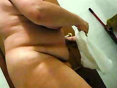 Spying BBW wife after shower