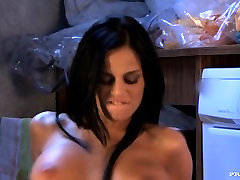 Black Angelika Masturbates in the Laundry Room until She Gets Anal
