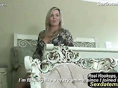 Sexy Kanādas Nav heels cam show Aka MILF Rāda savas Preces un