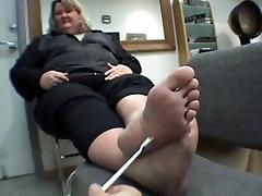 BBW cum on footjob jizz porn Blonde Soles