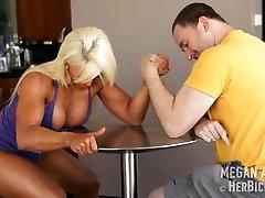 Megan Avalon candid ebony volleyball ass Armwrestling