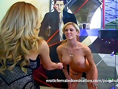 Sexy long haired mom and son sev meets the flogger for the first time