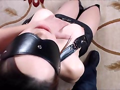 Blindfolded and Cuffed Submissive Greets Sir with a Blowjob