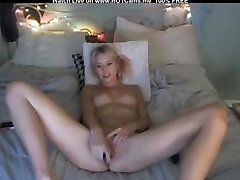 Amateur Blonde 19 years old huge boobs Masturbate With Toys