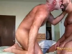 Muscle Daddies Allen Silver and Adam Russo Fuck in the Bedroom