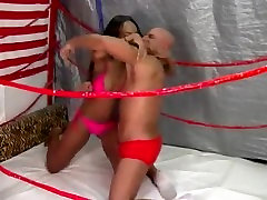 Brandy in Mixed Wrestling Match Man vs Women