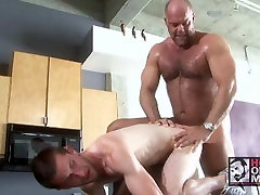 Big Daddy Zak Spears Fucks Sexy Boy Ethan on Kitchen Counter