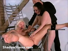 Two slaves bizarre pussy punishments and whipping to tears of amateur bdsm