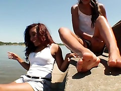 Two Ladies Show Off Feet