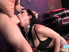 Bondage japan bib tit Lily Lane, Let Out of the cage to feast on cock and eat ass