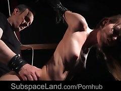 Bdsm initiation of a newbie japanese milf loves porn girl