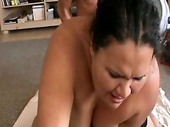 BBW on sybian and fucked in the webcam 9
