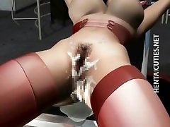 3D granny massuse fucks babe in stockings gets nailed
