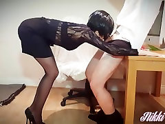 13- Nikki the slutty Secretary wants cream in her tea -part1- Nikkis WE 4