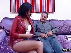 Linet learning to how to kiss cock HD