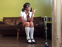 Naughty šola dekle je kajenje