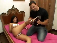 FOOTJOB FROM BRAZILIAN GIRL