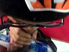 Ebony Thot Pusaudžu Nerd No Čikāgas, Dodot Galvu Ar Brillēm