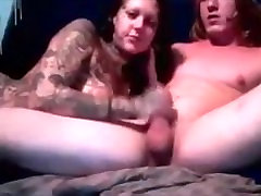 girl with lots of tattoos like to deep throat cock