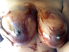 Big 3gp porn step tits covered in Chocolate