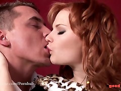 Beauty redhead Tarra amazing ty real orgasm Deepthroat and Hard Anal Fuck