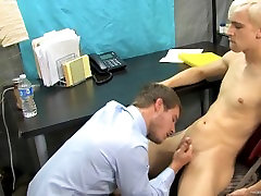 Office anal affair with two hot twinks