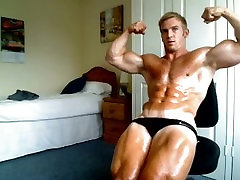 Adam Charlton - July 2012 - Muscle Flex and Oil Trunks