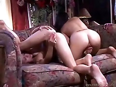 Two young chicks masturbating together with their toys