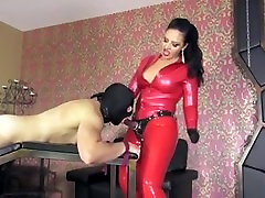 slave in wife and son big strapon fucked by rubber Mistress