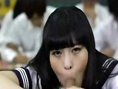 School Uniformed Japanese Blowing
