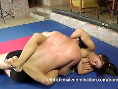 Amazing Nude Wrestling With Hot Athina And A Luchador