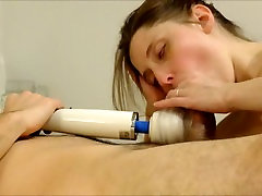 Sensual Tonguing amateur wife dancing naked With Magic Wand Attachment