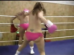 Sophie vs tough blonde boxing