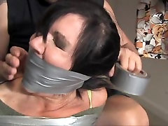 Another MILF, another closet. DUCT TAPE BONDAGE