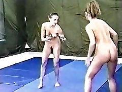 Lisa Marie vs Raven wrestling